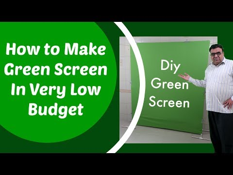 DIY Green Screen in Very Low Budget in Hindi | DIY Green Screen Stand
