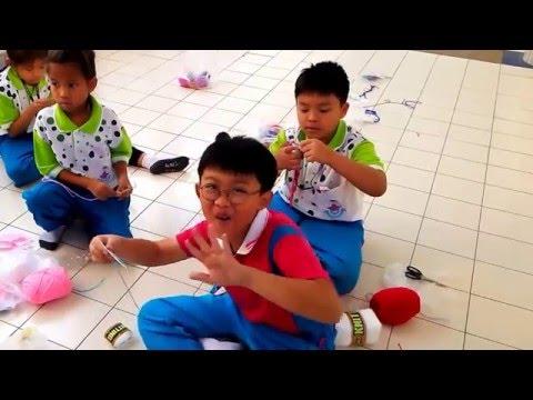วิธีปักแผ่นเฟรม กิจกรรมการเรียนรู้ ฝึกสมาธิ เด็ก EP.  Tiga & friend