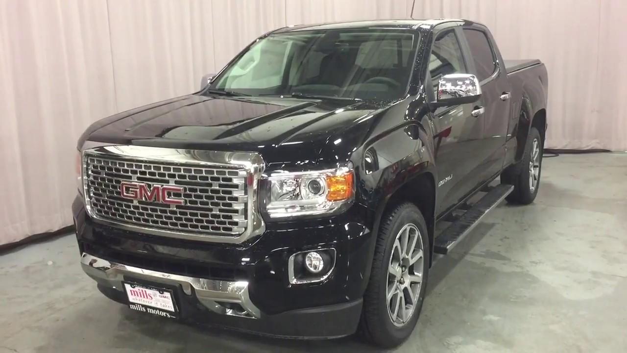 2018 GMC Canyon 4WD Crew Cab Denali Sunroof Heated Steering Navigation Black Oshawa ON Stock ...