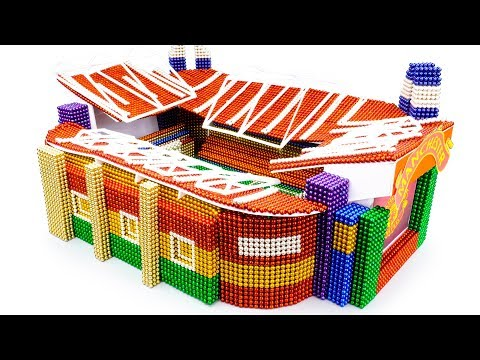 DIY - Build Manchester United - Old Trafford Stadium With Magnetic Balls (Satisfying) - Magnet Balls