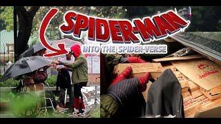 SPIDERMAN GIVES 100 BURGERSTEAK IN MANILA