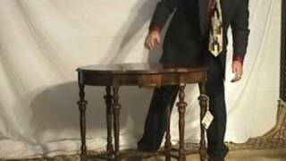 Mersman Mahogany & Burl Walnut Accent Table  Ca 1930