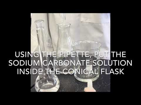To determine the percentage of Water of Crystalisation of Sodium Carbonate