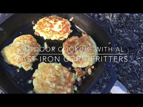 Cast Iron Corn Fritters!!