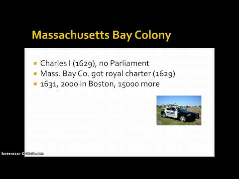 Week 2: Lecture 1: New England Settlements