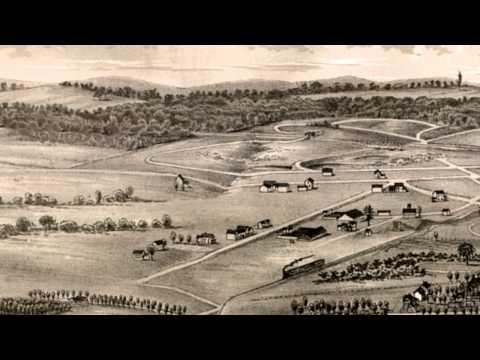Saratoga Springs New York 1888 Panoramic Bird's Eye View Map 7341