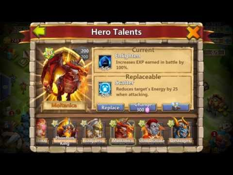 Castle Clash Rolling Talents For Scatter