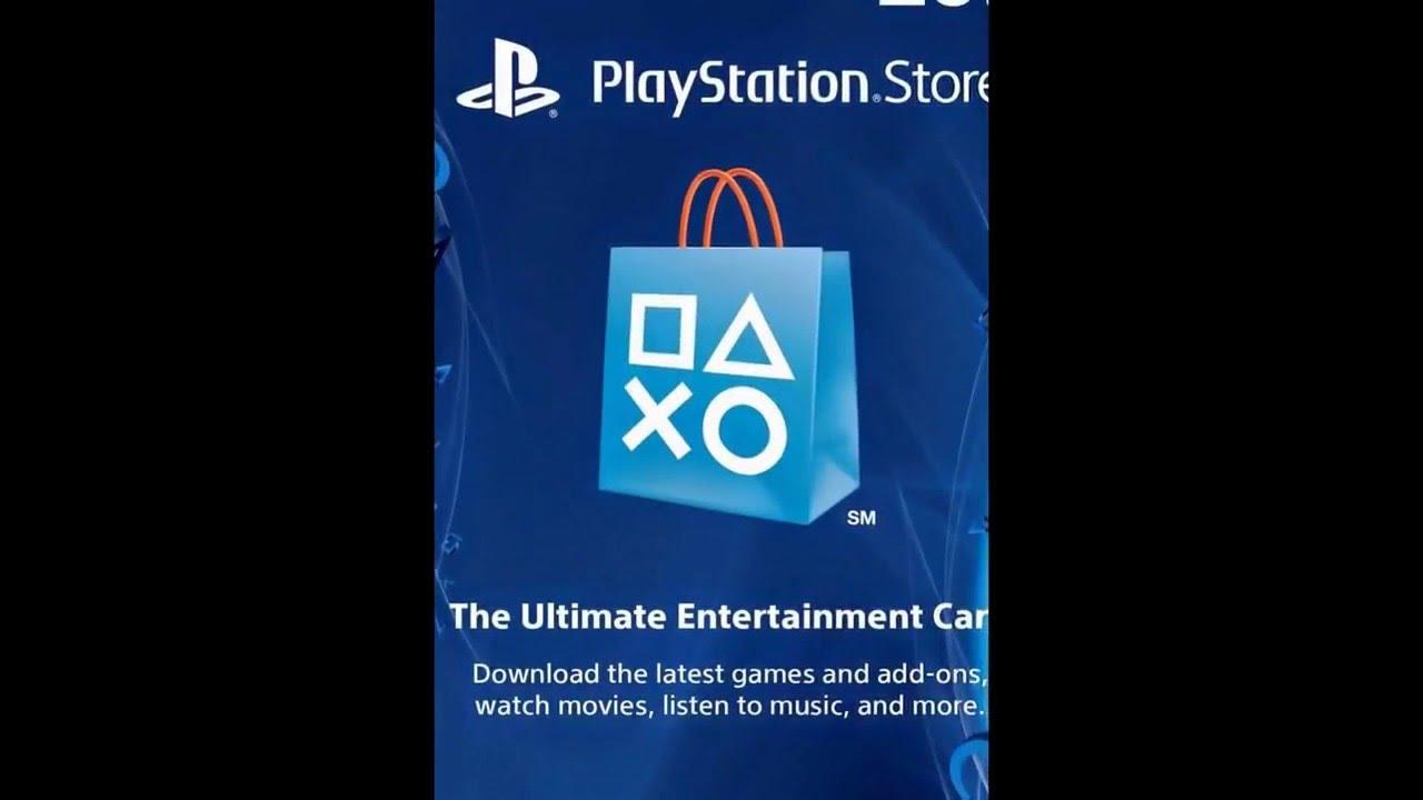 $20 PlayStation Store Gift Card - PS3/ PS4/ PS Vita Digital Code ...