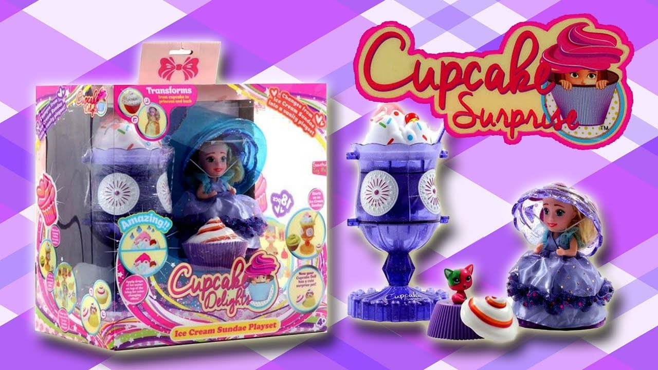 cupcake surprise ice cream sundae vanity set unbox play little kelly friends toysreview