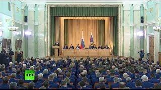 Владимир Путин проводит заседание коллегии Генеральной прокуратуры РФ