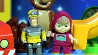 Plac zabaw - Masza i Niedźwiedź & Strażak Sam - bajka po polsku