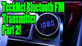 TeckNet | Bluetooth FM Transmitter - Change Transmission Frequency!