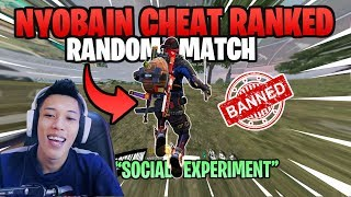 AUTO BANNED! PAKE CHEAT DI RANKED RANDOM MATCH (Social Experiment) - Garena Free Fire