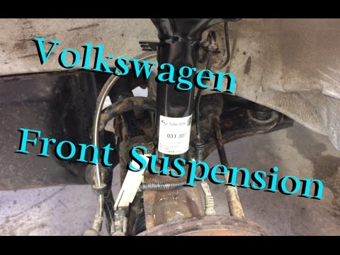VW Golf MK4 Front Strut Replacement - YouTube