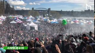 420 Vancouver Timelapse 2017 at Sunset Beach