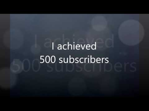 Thank You For 500 Subscribers!!!!!!