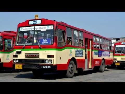 【Thailand】Bangkok bus engine sound ISUZU