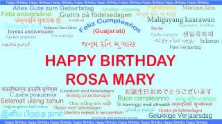 RosaMary   Languages Idiomas - Happy Birthday