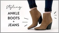How to Style ANKLE BOOTS and JEANS (Skinny, Flare, Cropped, Straight Jeans) | Miss Louie