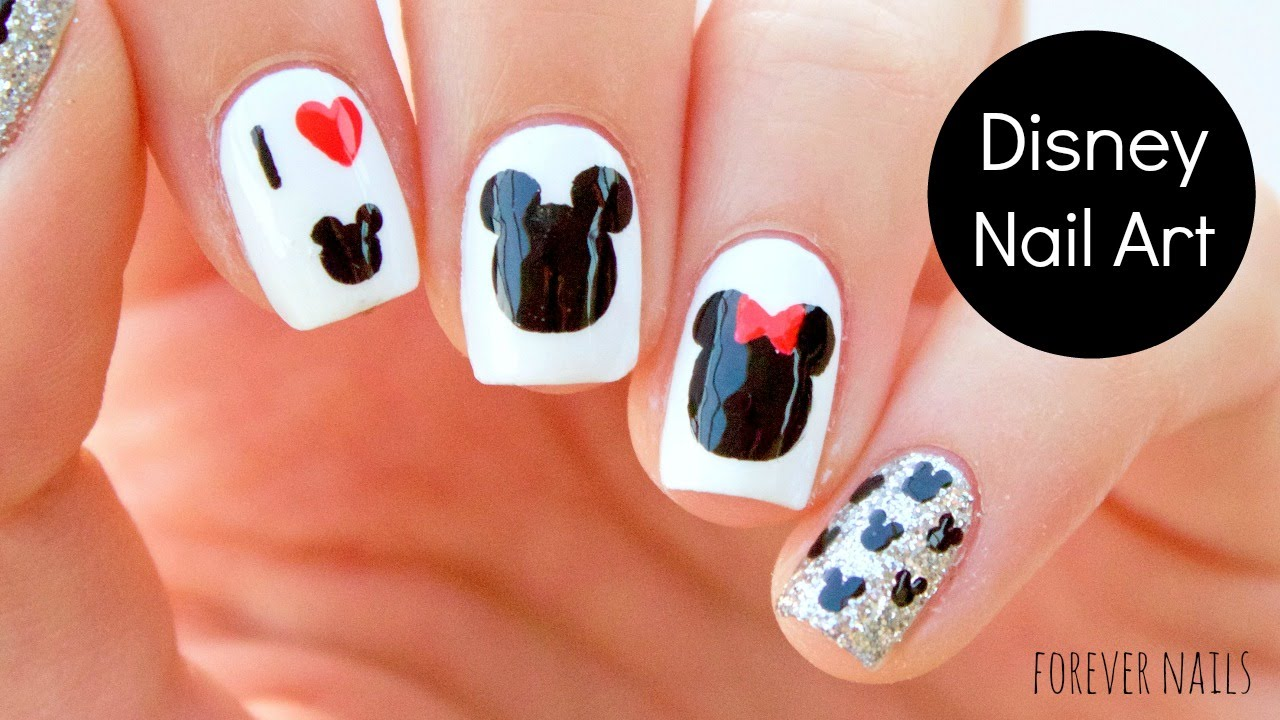 DISNEY NAIL ART - DISNEY NAIL ART - YouTube