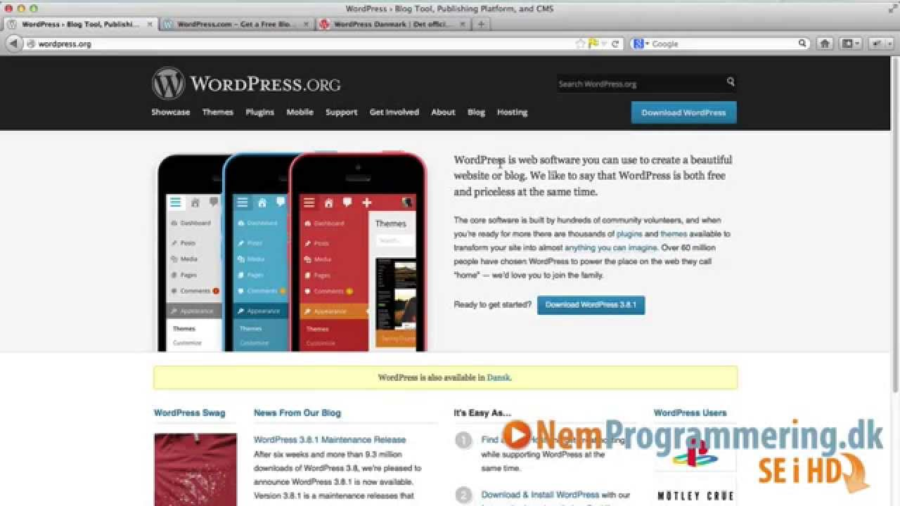 wordpress dansk download