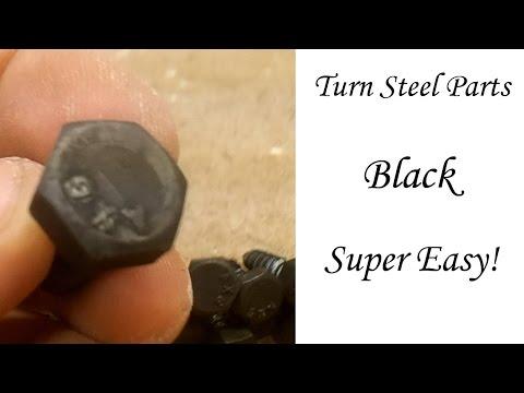 Easily Turn Steel Parts Black