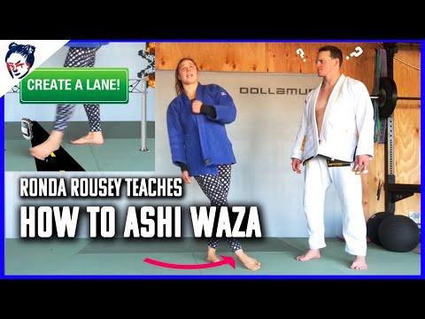 How to do Ashi Waza Judo Sweep Training | Ronda Rousey's Dojo #11