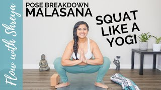 MALASANA POSE BREAKDOWN   HOW TO DO GARLAND POSE   YOGI SQUAT