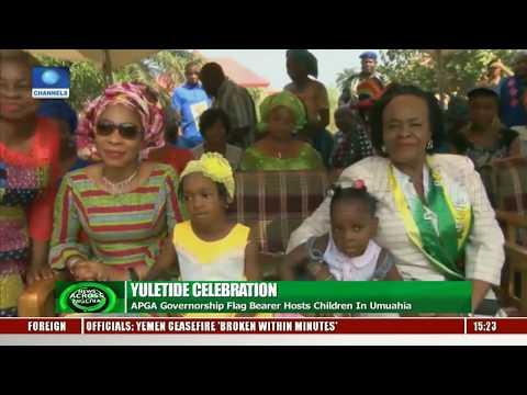 Yuletide Celebration: APGA Governorship Flag Bearer Hosts Children In Umuahia