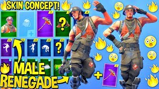 *NEW* Male Renegade Raider Skin Showcased in Fortnite..!! (Concept Skin!)