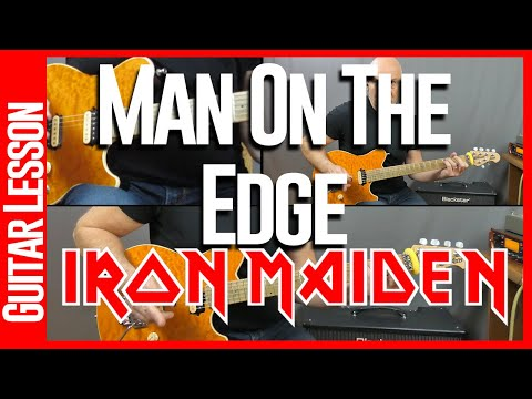 Man On The Edge By Iron Maiden - Guitar Lesson