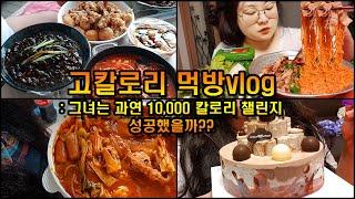 먹방 브이로그(10,000칼로리 챌린지)폭식먹방, 과연…
