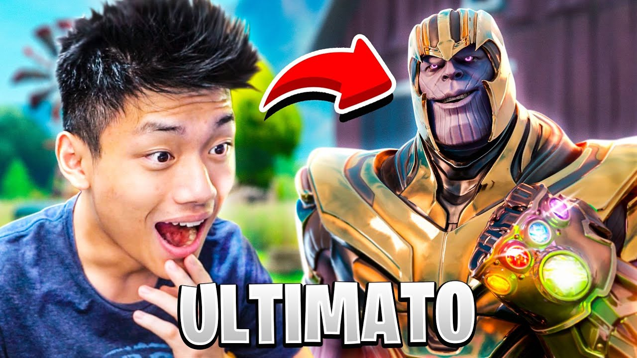ATCHIIN - VIREI O THANOS E LUTEI CONTRA TODOS OS VINGADORES NO MODO ULTIMATO!!! FORTNITE BATTLE:ROYA
