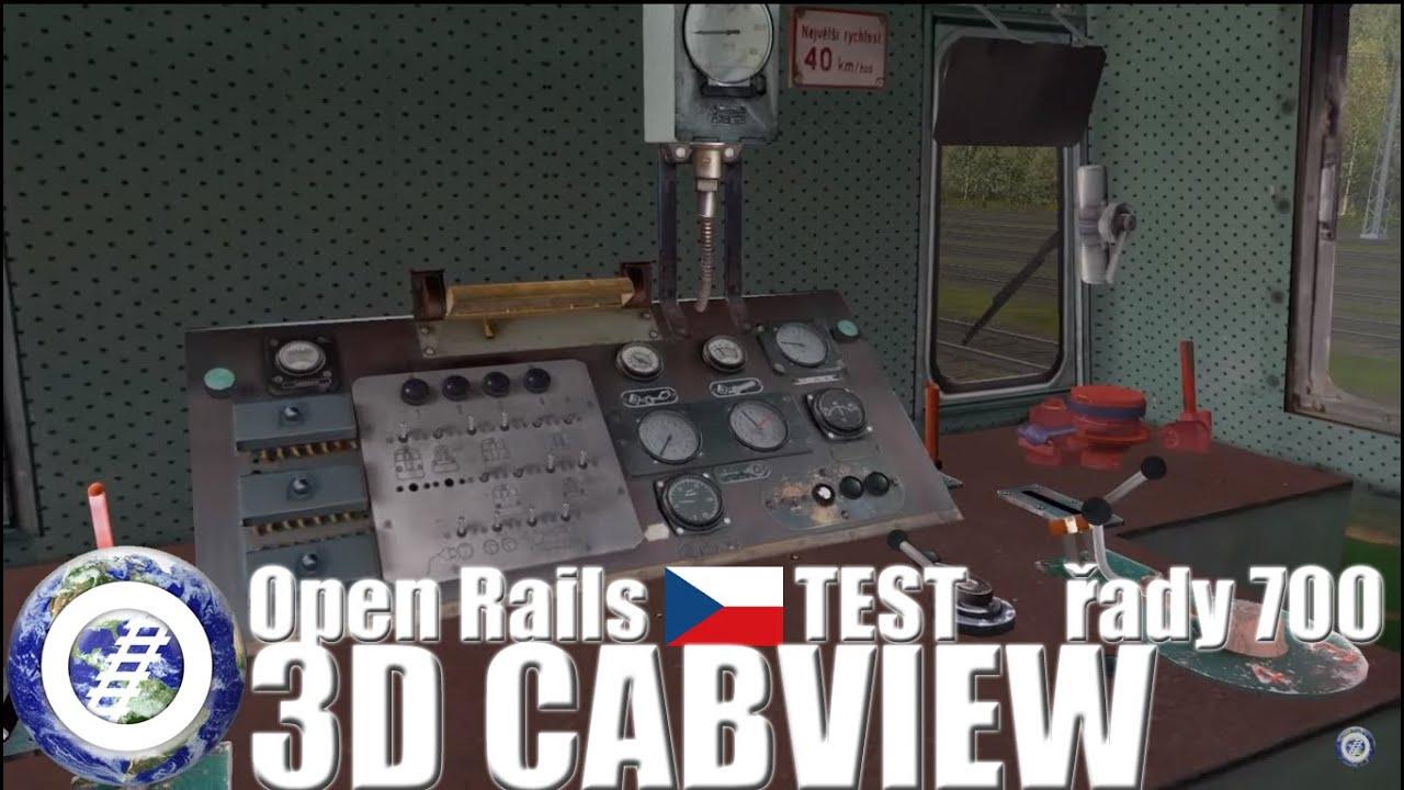 Open Rails 3D Cab test - KPKV 700 777-6
