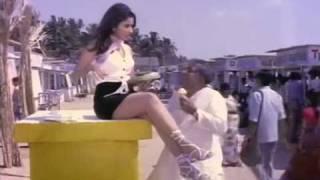 Reena Roy  thigh show in short skirt