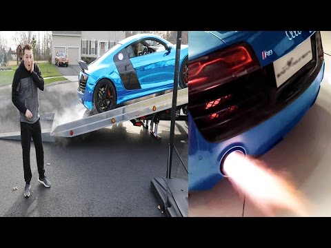 THE LOUDEST AUDI R8 EXHAUST EVER!? SHOOTING FLAMES