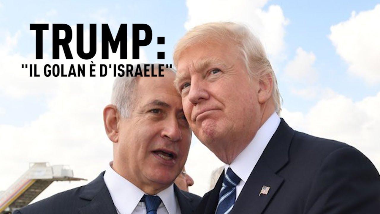 """PTV News - 22.03.19 - Trump: """"Il Golan è d'Israele"""