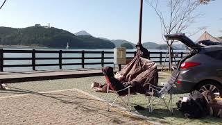 차박 텐트치기!!!