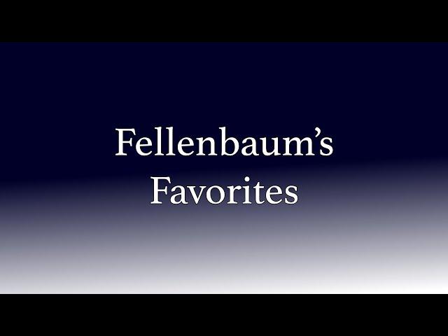 Fellenbaum's Favorites, Episode 6: John Williams, part 1