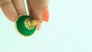 How to make  Silk Thread Jhumkas/Silk Thread Jhumka Tutorial