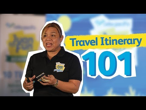 How to Create a Travel Itinerary: CEB Travel Talks by Jude Bacalso