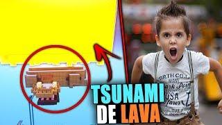 TROLLEO CON TSUNAMI DE LAVA | TROLLEOS EN MINECRAFT #149