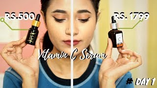 #DAY1: I tried two different Vitamin C Serums with same Ingredient!