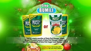 KM8 Datu Puti Vinegar Proof-of-Purchase