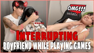SUB) Interrupting boyfriend while playing games😈ㅣ게임하는 남자친구 방해하기ㅣ게이커플ㅣKorean gay couple