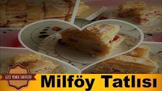 Çilekli Milföy Tatlısı Tarifi | Pratik Milföy Pastası Nasıl Yapılır | Milföylü Tarifler