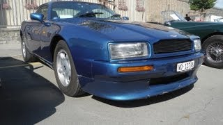 ASTON MARTIN VIRAGE coupé V8 330 CH 1989 1°generation 89-94 Sound action [HD]