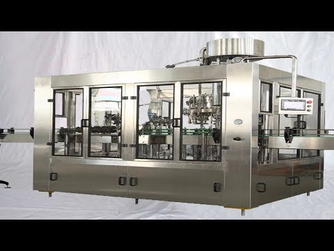 Mineral Water Bottling Equipment Fully Automatic Filling Capping Labeling Packaging Line 礦泉水包裝線全自動