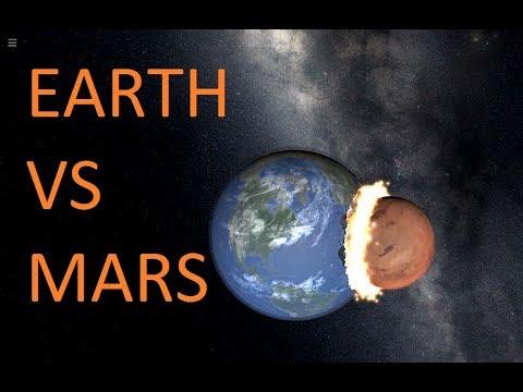 Earth Vs Mars Collision | Collision Series Episode 4 | Universe Sandbox ² - YouTube