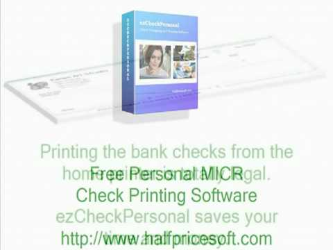 free personal micr check printing software